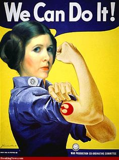 Princess Leia as Rosie the Riveter