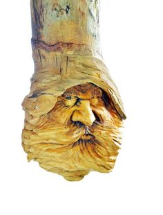 Wood Spirit Wood Carving Hand Carved Wood by JoshCarteArt on Etsy
