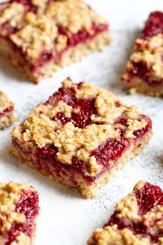 These strawberry banana oat bars are naturally sweetened and made with healthy ingredients like oats, bananas, strawberries, and maple syrup. They make a delicious gluten-free and vegan breakfast or snack.