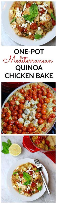 One-Pot Mediterranean Quinoa Chicken - To Live & Diet in LA