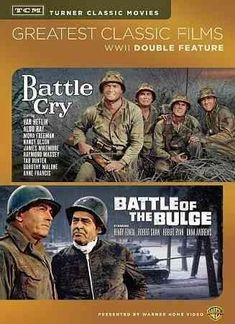 Shop TCM Greatest Classic Films: WWII Double Feature Battle Cry/Battle of the Bulge Discs] [DVD] at Best Buy. Find low everyday prices and buy online for delivery or in-store pick-up. Turner Classic Movies, Classic Films, Mona Freeman, James Macarthur, James Whitmore, Van Heflin, Tab Hunter, Anne Francis, Charles Bronson