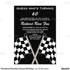 Checkered Flag Race Funny Birthday Party Invitation Your friends will love this… Birthday Party Decorations Diy, Birthday Party Invitations, Birthday Parties, Funny Birthday, Birthday Crafts, Birthday Presents For Mom, Birthday Gifts For Boyfriend, Boyfriend Gifts, Surprise Birthday