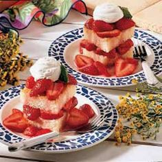 Strawberry Shortcake - my mom has always made spongy shortcake, not biscuits. I love the soft, springy texture and all the spring sweetness.