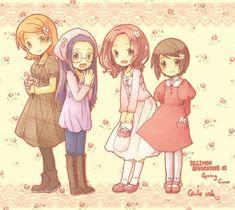 Digimon - Kari, Sora, Mimi, Yolei