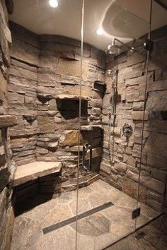 Cabin in a Cabin - Gravenhurst ON rustic - love the rock wall appearance and she. Cabin in a Cabin - Gravenhurst ON rustic - love the rock wall appearance and shelves