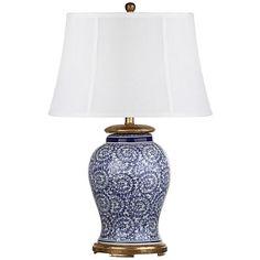 Dalton Blue and White Porcelain Table Lamp