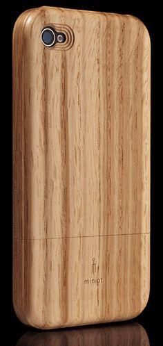 Another beautiful real wood case for iPhone, this one by Dutch company Miniot