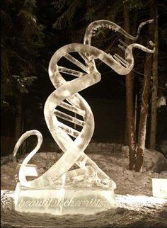 DNA ice sculpture... THIS IS INCREDIBLE!!!