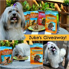 Enter the Zuke's Giveaway on To Dog With Love to win three packs of Zuke's Z-Filets and three packs of Zuke's Z-Bones! Ends 8/15/14.