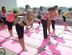 Yoga with Victoria's Secret Angels