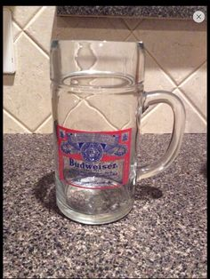 Vintage 1L Budweiser Glass Mug on Etsy, $16.99