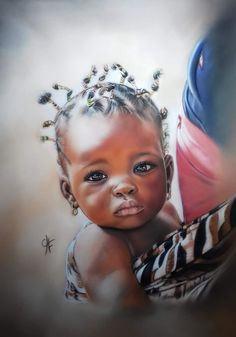 Black Love Art, Black Girl Art, Art Girl, African Art Paintings, Cool Paintings, African Children, African Women, Arte Black, The Age Of Innocence