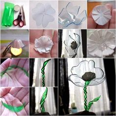 23 Insanely Creative Ways to Recycle Plastic Bottles Into DIY Projects - Recycling-diy Old Bottles, Recycled Bottles, Recycled Art, Plastic Bottle Flowers, Plastic Bottle Crafts, Plastic Recycling, Recycle Plastic Bottles, Diy Fleur, Crafts To Make