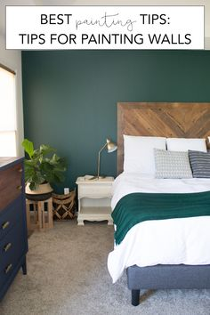 Best Painting Tips: Tips for Painting Walls   My Breezy Room how to paint walls #paintingtips #paint #valsparpaint #modernbedroom #modernhome #ad @homerightps