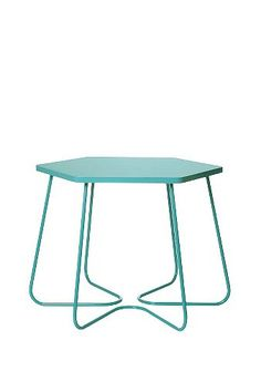 Hexagon Side Table in Teal