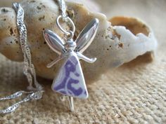 Magical Fairy...Scottish purple swirl sea pottery di TiliabytheSea