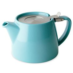 The Stump teapot comes complete with an extra-fine mm stainless-steel tea infuser and permanently attached hinged lid for easy use. The extra-fine infuser enables you to steep fine loose-leaf teas Espresso, Types Of Tea, Ceramic Teapots, Tea Infuser, Fruit Infuser, Loose Leaf Tea, Kitchenware, Tea Pots, Ceramics