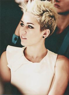 Miley Cyrus, I love her hair but I do not have the talent or time to style it everyday