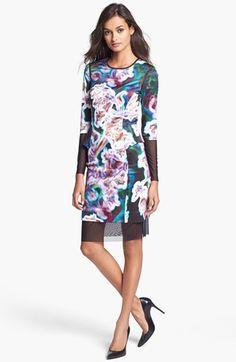 Milly Mesh Trim Sheath Dress | Nordstrom