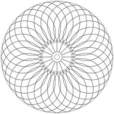 Mandala-Ausmalbild Nr. 48