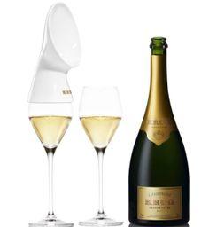 Krug Sounds: Un accesorio algo extraño para la copa de Champagne. #XmasCool #XmasChic
