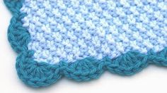CROCHET: How to add a crochet border (scalloped/shell edging) | Bella Coco - YouTube