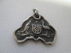 Delaware Bracelet//Travel Charm Vintage REU Sterling//Enamel Rehoboth Beach