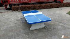 Pingpongtafel Afgerond Blauw bij Heliotroop in Almere Stad
