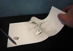 трехмерные рисунки простым карандашом 3d иллюзии  (24)
