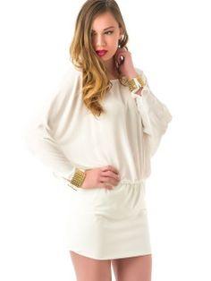 Vestido Blanco Ablusado MS1152