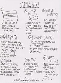 studyspoinspo:  another note - studying hacks.