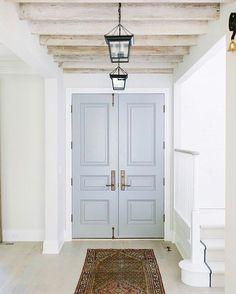 Powder blue door