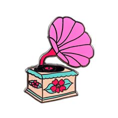 Retro Record Player Pin by Abby Galloway - Valley Cruise Press