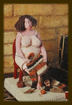 When I feel like I'm unravelling...I should look at this Knitter...and smile. Love this!