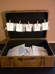 such a cute idea for graduation party card box if the grad is going away to college! by ella