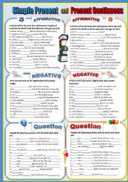 English worksheets: simple worksheets, page 2
