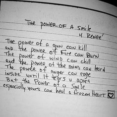Another favorite , The Power Of A Smile - Tupac Amaru Shakur