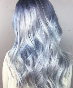 Ombre Pastel Hair, Icy Blue Hair, Silver Blue Hair, Icy Hair, Pastel Blue Hair, Ombre Hair Color, Cool Hair Color, Pastel Colors, Amazing Hair Color