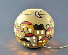 Lampada da tavolo in ceramica gres a sfera Urbe   KRISMAKER