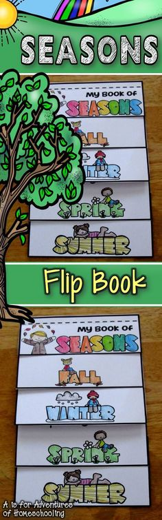 A fun flip book that teaches students the different seasons. It shows what the weather is during that time. A great reference for students.12.F.ECa observe and discuss changes in weather and seasons using common vocabulary.