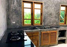 12 ไอเดีย การออกแบบห้องครัวใช้งานครัวไทย เรียบง่าย ใช้งานจริง | iHome108 Loft Kitchen, Kitchen Room Design, Kitchen Layout, Home Decor Kitchen, Kitchen Interior, Home Interior Design, Industrial Kitchen Design, Modern Kitchen Design, Log Home Kitchens