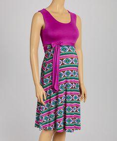 Love this Purple Maternity Sleeveless Dress on #zulily! #zulilyfinds