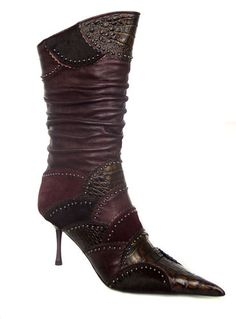 3993 7 Women ankle boots El Dantes, Made in Spain ~ LOVE this in purple!!