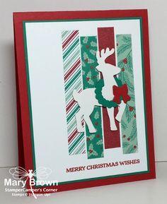2016 Set(s):Santa's Sleigh Paper:Whisper White THICK, Whisper White, Real Red, Emerald Envy, Presents & Pinecones dsp Ink:Real Red Other:Santa's Sleigh Thinlits, Dimensionals