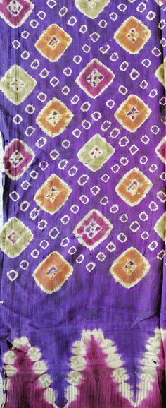 Balinese tie dye silk antique textile, known as Pelangi, which means rainbow in Indonesian.  www.kulukgallery.com