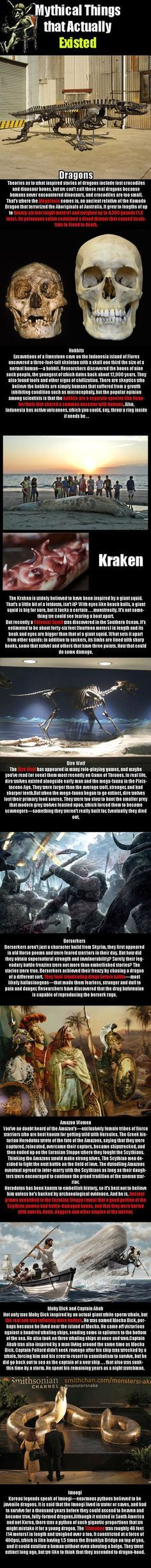 Mythical things that may have existed...