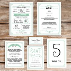 From the Shop - Printable Rustic Mint Invitation Set | MountainModernLife.com