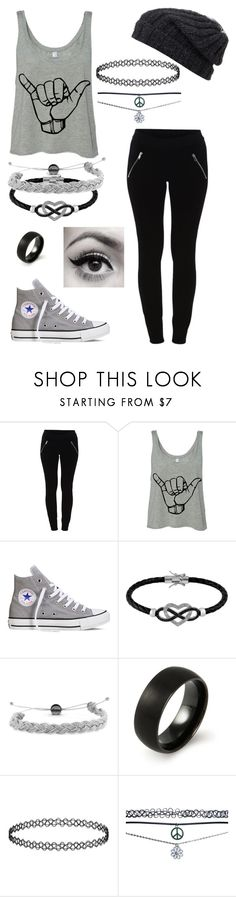 """""""I'm having a stay-at-home/sick day"""" by nina-ochoa ❤ liked on Polyvore featuring VILA, Converse, Jewel Exclusive, Domo Beads, Topshop, Wet Seal, Grevi and Color Me"""