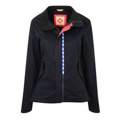 LUMO Womens Herne Hill Harrington cycling jacket with in-built LED lights