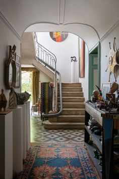 Room Decor Inside Legendary Creator Guy de Rougemont& Unassuming Compound in the South of France Dream Home Design, My Dream Home, Home Interior Design, Interior Architecture, House Design, Architectural Digest, Style Deco, Dream Apartment, Apartment Ideas